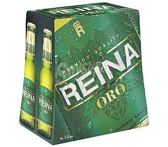 REINA ORO Cerveza premium quality Pack 6x250 ml