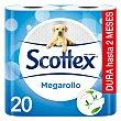 Papel higiénico Megarollo 20 rollos 20 rollos Scottex