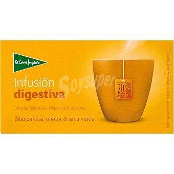 El Corte Inglés infusión digestiva con manzanilla, menta y anís verde 20 bolsitas  estuche 30 g