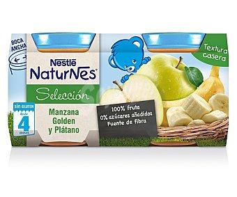 Naturnes Nestlé Tarritos de manzana golden y plátano Selección pack 2x200g