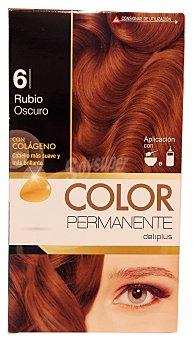 Deliplus Tinte coloracion permanente Nº 06 rubio oscuro (contiene colageno para hidratar) u