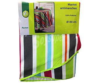 PRODUCTO ECONÓMICO ALCAMPO Mantel antimanchas estampado rayas 100% poliéster, 150x180 centímetros 1 Unidad