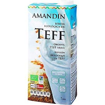 AMANDIN Bebida ecológica de teff sin lactosa ni azúcares añadidos Envase 1 l
