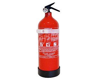 Anaf group Extintor con botella de aluminio, carga de polvo ABC de 2 kilos, manómetro de presión y soporte para fijación (no incluye tornillos) group
