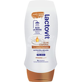 LACTOVIT leche corporal bajo la ducha con Aceites Esenciales para piel seca frasco 230 ml