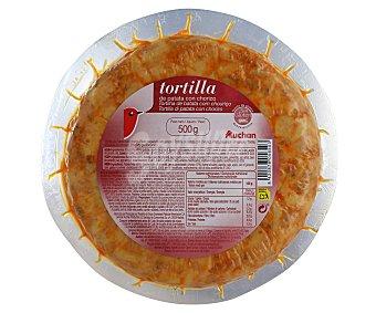 Auchan Tortilla con chorizo sin gluten 500 gramos