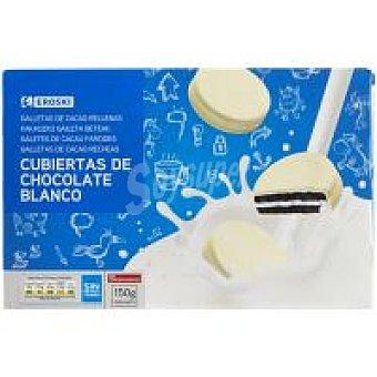 Eroski Galleta cubierta de chocolate blanco Caja 150 g