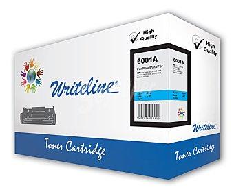 WRITELINE Toner compatible 124A Q6001A, Cian, aprox. 2000 paginas, compatible con impresoras HP: Color laserjet CM1015 mfp, CM1017 mfp, 1600, 2600n, 2605, 2605dn, 2605dtn.