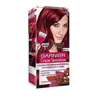 Color Sensation Garnier Tinte capilar color rojo intenso nº6.60 Caja 1 ud
