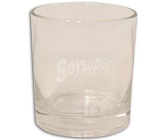 Auchan Vaso bajo para agua modelo Geo, con capacidad de 24 centilitros y fabricado en vidrio de color negro 1 Unidad