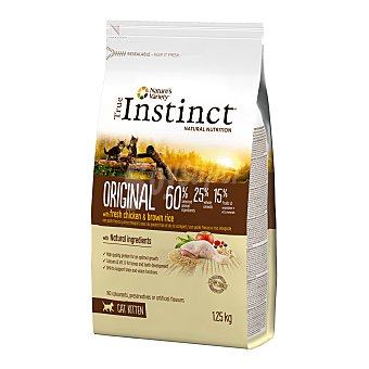 True Instinct Pienso para gatos kitten Original pollo y arroz integral 1,25 Kg