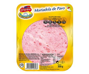 PAVOFRIO CAMPOFRIO mortadela de pavo en lonchas  envase 300 g