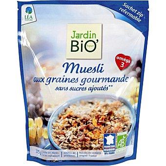 Jardin Bio' muesli sin azúcar con omega 3 envase 375 g 3 envase 375 g