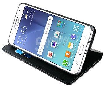 Muvit Funda con tapa Folio stand, compatible con Samsung Galaxy J7