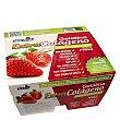 Gelatina fresa extracolageno sin azucar pack de 4x100 g Yelli Fruit