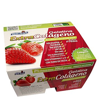 Yelli Frut Gelatina fresa extracolageno sin azucar pack de 4x100 g