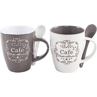 Unit Bretaña set 2 tazas mug con cuchara