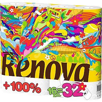 Renova Papel higienico doble rollo Paquete 16 rollos