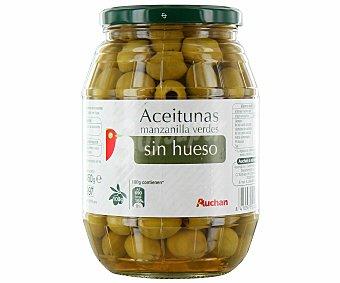 Auchan Aceituna manzanilla sin hueso Tarro de 450 gramos