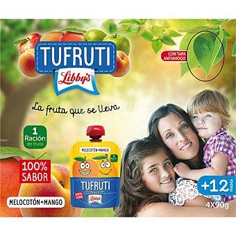 Libby's Puré de fruta de melocotón y mango pack 4 envases 90 g Pack 4 envases 90 g