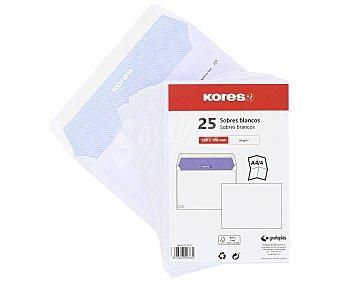 Kores Paquete de 20 sobres de tamaño 120 x 176 mm, peso de /m² y de color blanco kores 90 g