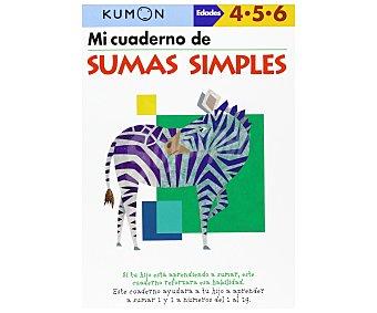 S.L. medialive content Método Kumon: Mi libro de sumas simples, vv.aa. Género: Cuaderno de actividades. Editorial