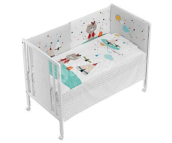 Interbaby Cuna panel, de 60x120cm, color blanco, INTERBABY.