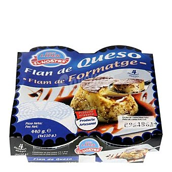 Que's lider Flan de queso Lago Puig El Nostre Pack de 4 unidades de 27 g