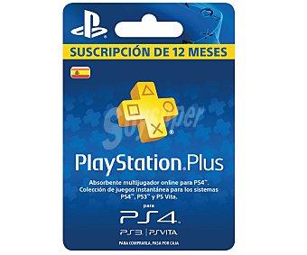 Sony Tarjeta que da Acceso al Servicio playstation Plus 1 Unidad