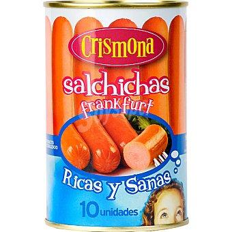 Crismona Salchichas cocidas y ahumadas lata 230 g neto escurrido 10 unidades