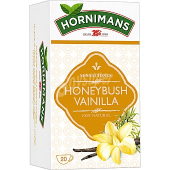Hornimans Infusión herbal Honeybush vainilla y canela 100% natural estuche 20 unidades Estuche 20 unidades
