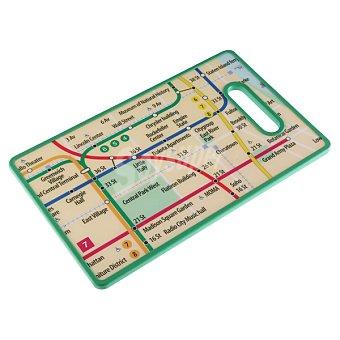 QUO Tabla de cortar metro Nueva York 37 x 22,5 cm