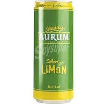 Cervezas Aurum Cerveza sabor limón Lata 33 cl