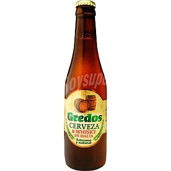 GREDOS Cerveza artesana de ávila y whisky de malta Botella 33 cl