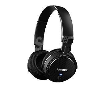 PHILIPS SHB5500BK Auricular cerrado Bluetooth, micrófono, batería hasta 9 horas de duración, color negro.