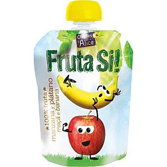 CHARLES & ALICE Fruta SI! manzana y plátano 100% fruta Envase 90 g