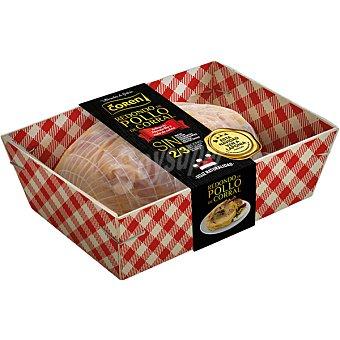 Coren Redondo de pollo de corral relleno de membrillo y rulo de queso de cabra peso aproximado bandeja 800 g sin gluten ni lactosa Bandeja 800 g