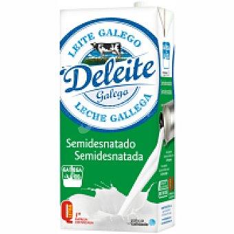 Deleite Leche gallega Semidesnatada Brick 1 litro