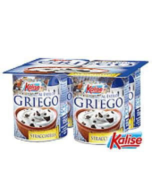 Kalise Yogur Griego Stracciatella Pack de 4x125 g
