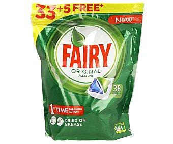 Fairy Detergente en pastillas para lavavajillas Original 33+5 uds