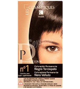Les Cosmetiques Crema colorante permanente Negro 1 unidad