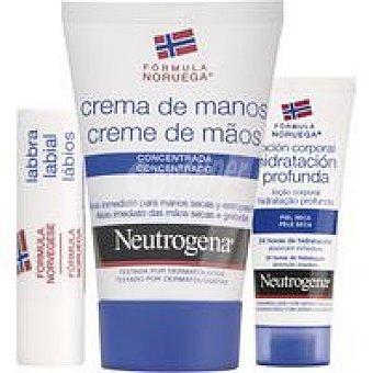Neutrogena Crema de manos Tubo 50 ml + Labial + Loción Corporal