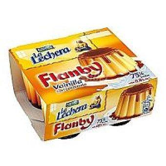 Nestlé Flan de vainilla Flanby Pack de 4x100 g