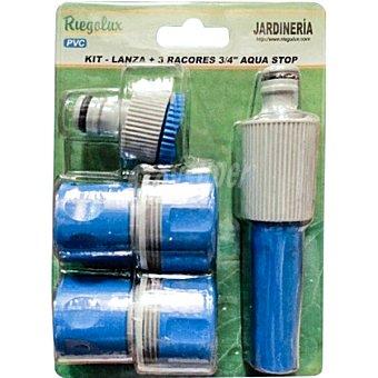 """BM set de 4 piezas - lanza ajustable más accesorios 1/2"""" color azul"""