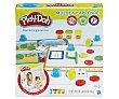 Juego de plastilina Moldea y Aprende números y cuentas, incluye 3 botes play-doh.  Playdoh