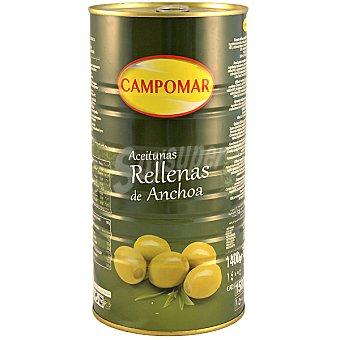 Campomar Nature Aceitunas rellenas de anchoa Envase 600 g