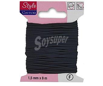 STYLE Hilo elástico forrado color negro, 20 metros style