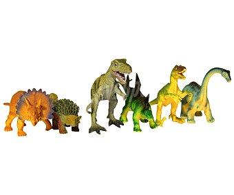 Productos Económicos Alcampo Dinosaurios Fabricados en Plástico de alta Resistencia 1 Unidad