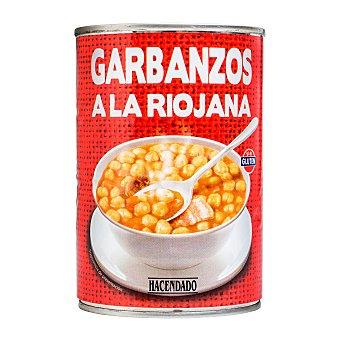 Hacendado Garbanzo riojana (chorizo) Bote 425 g