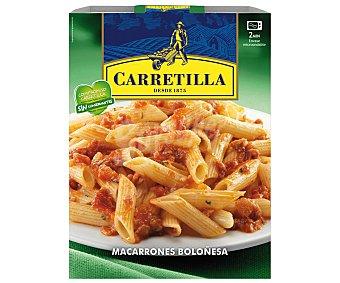 Carretilla Macarrones boloñesa Envase 325 g